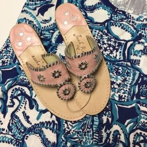 New Jack Rogers palm beach platinum sandal